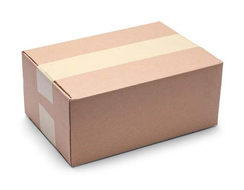 Small brown shipping box